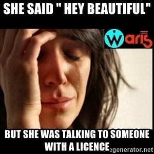 "Mehbooba - She said "" Hey beautiful"" but she was talking to someone with a licence"