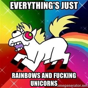 Lovely Derpy RP Unicorn - Everything's just rainbows and fucking unicorns
