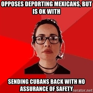 Liberal Douche Garofalo - Opposes deporting Mexicans, but is ok with Sending Cubans back with no assurance of safety