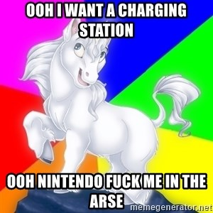 Gayy Unicorn - OOh I want a charging station OOh Nintendo fuck me in the arse
