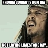 Jack Sparrow Reaction - Rhonda Sunday is rum day Not laying limestone day