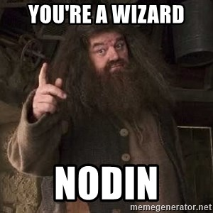 Hagrid - You're a Wizard Nodin