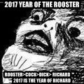 Mother Of God - 2017 year of The Rooster Rooster>Cock>Dick> Richard    ∴    2017 is the year of Richard