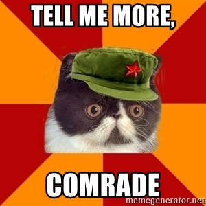 Communist Cat - tell me more,  comrade