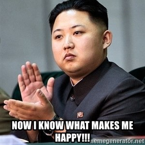 Kim Jong Un Clap -  now i know what makes me happy!!!