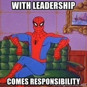 spider manf - With Leadership Comes Responsibility