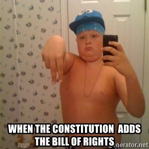 Cookie Gangster -  when the constitution  adds the bill of rights