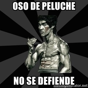 Bruce Lee Figther - oso de peluche no se defiende