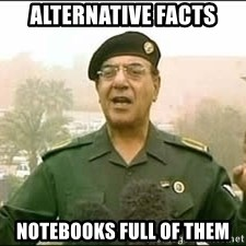 Baghdad Bob - Alternative Facts Notebooks full of Them