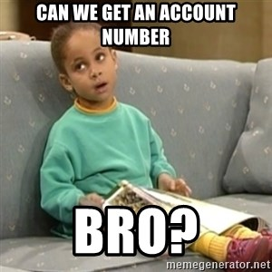 Olivia Cosby Show - Can we get an account number bro?