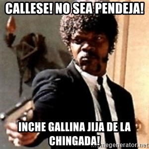 English motherfucker, do you speak it? - Callese! No sea Pendeja! inche Gallina Jija de la chingada!