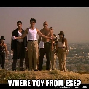 Blood in blood out -  Where yoy from ese?