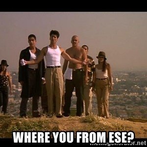 Blood in blood out -  Where you from ese?