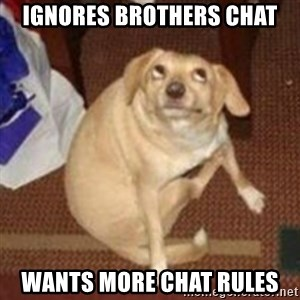 Oh You Dog - ignores brothers chat wants more chat rules