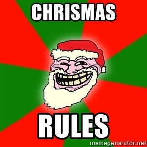 Santa Claus Troll Face - Chrismas RULES