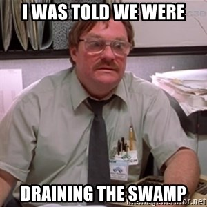 milton waddams - I was told we were draining the swamp