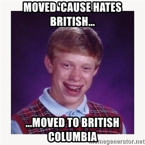 nerdy kid lolz - moved 'cause hates British... ...moved to British columbia