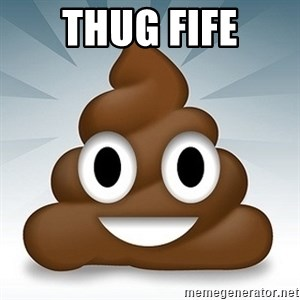 Facebook :poop: emoticon - Thug Fife
