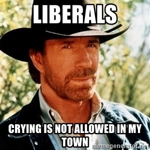 Brutal Chuck Norris - liberals crying is not allowed in my town