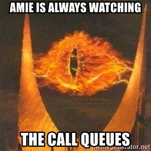 Eye of Sauron - amie is always watching the call queues