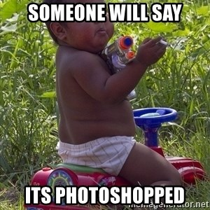 Swagger Baby - someone will say its photoshopped