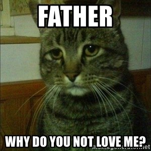 Depressed cat 2 - Father Why do you not love me?