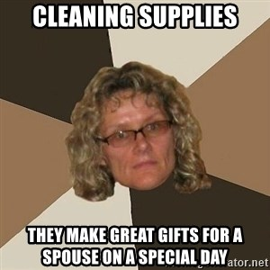 Annoyingmom - cleaning supplies they make great gifts for a spouse on a special day