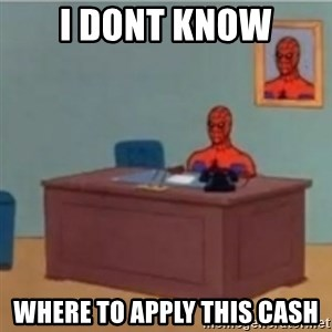 60s spiderman behind desk - I dont know where to apply this cash