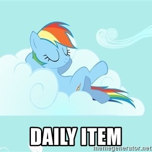 Rainbow Dash Cloud -  daily item