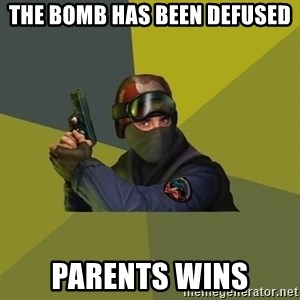 Counter Strike - The bomb has been defused Parents wins