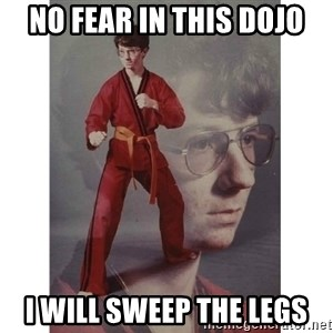 Karate Kid - No fear in this dojo I will sweep the legs