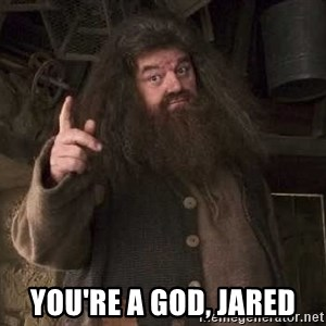 Hagrid -  You're a god, Jared