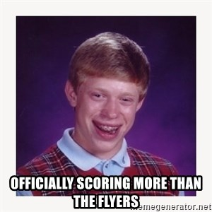 nerdy kid lolz -  OfficIally scoring more than the flyers