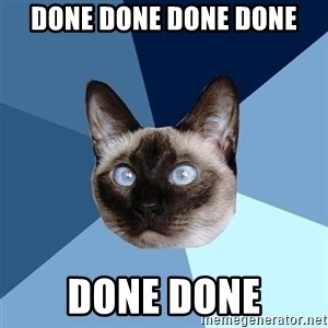Chronic Illness Cat - Done Done Done Done Done Done