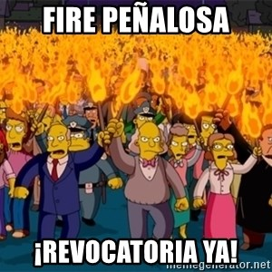 simpsons anger mob - Fire Peñalosa ¡Revocatoria Ya!