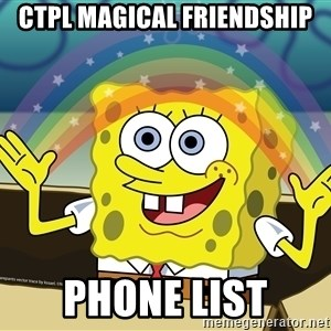 spongebob rainbow - CTPL Magical Friendship Phone List