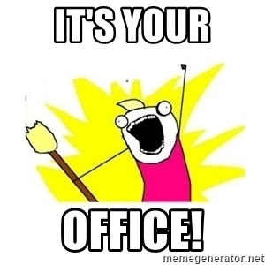 clean all the things blank template - it's your office!