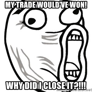 Lol Guy - my trade would've won! why did i close it?!!!