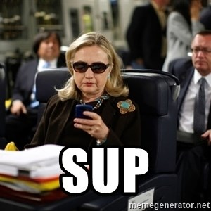 Texts from Hillary -  Sup
