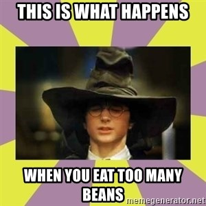 Harry Potter Sorting Hat - This is what happens when you eat too many beans