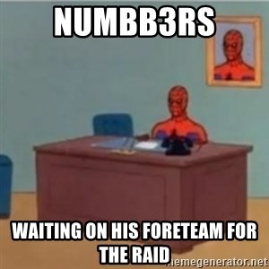 60s spiderman behind desk - numbb3rs  Waiting on his foreteam for the raid