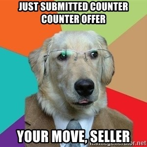Business Dog - Just submitted counter counter offer your move, seller