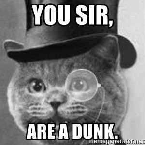 Monocle Cat - You sir, Are a dunk.