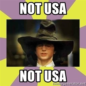Harry Potter Sorting Hat - NOT USA NOT USA