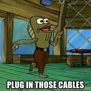 Rev Up Those Fryers -  plug in those cables