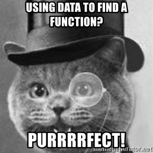 Monocle Cat - Using data to find a function? purrrrfect!