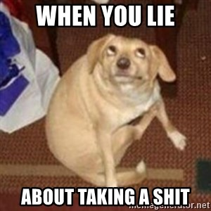 Oh You Dog - when you lie about taking a shit