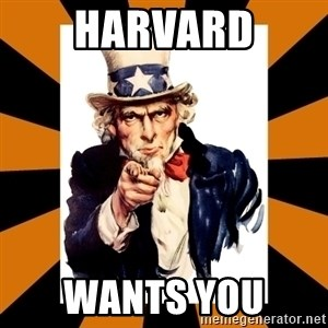 Uncle sam wants you! - HARVARD WANTS YOU