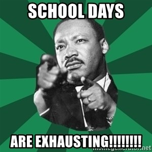 Martin Luther King jr.  - SCHOOL DAYS ARE EXHAUSTING!!!!!!!!