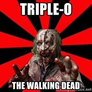 Zombie - triple-o the walking dead